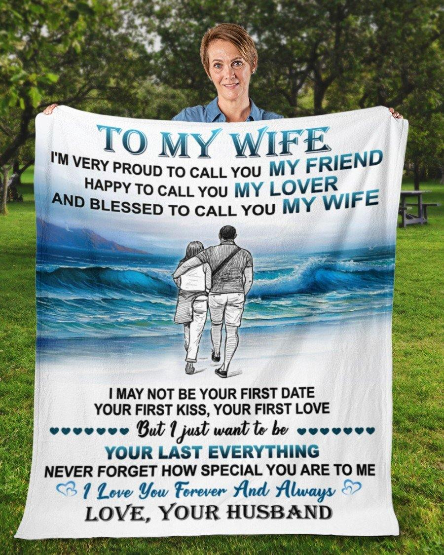 Valentine Gifts For Your Wife Blanket Fleece Blanket - I'm very proud to call you my friend happy to call you my lover