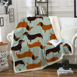 Sausage Dog Dachshund Blanket - Gift for Birthday, Christmas