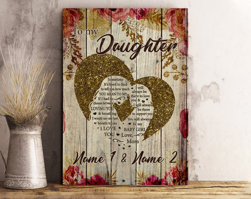Mothers Day Canvas  Personalized Mothers Day Gift From Daughter, Gift For Mother Of The Bride, Mother Daughter Photo Canvas, Gift For Mom, Birthday Gift For Her