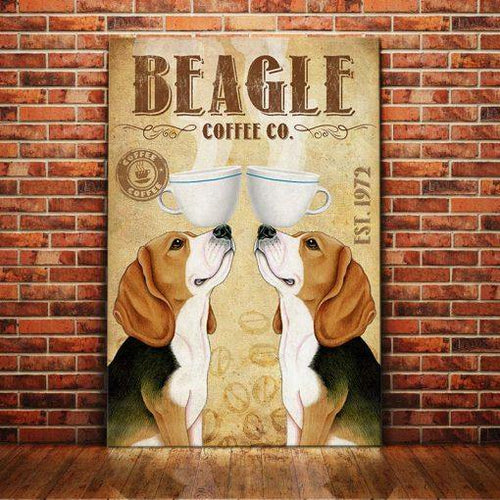 Beagle Dog Coffee Company Canvas