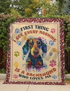 Dachshund Blanket - Gift for Birthday, Christmas - Is a Dachshund who loves me