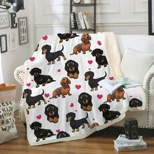 Dachshund Blanket II- Gift for Birthday, Christmas