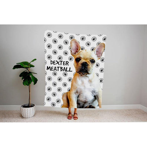 Personalized Photo Pet Fleece Blanket, Custom Pet Face blankets, Picture Blanket, Dog Mom Gift, Collage Pattern Blanket, Personalized Gifts