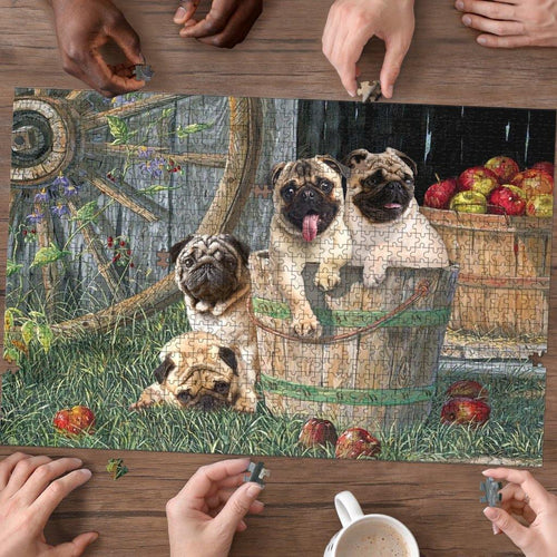 Pug - Puzzle dog - Family Presents - Great Blanket, Canvas, Clothe, Gifts For Family