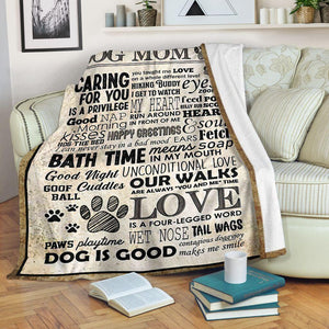 It's Good To Be A Dog Mom - Blanket - GIft for dog lover