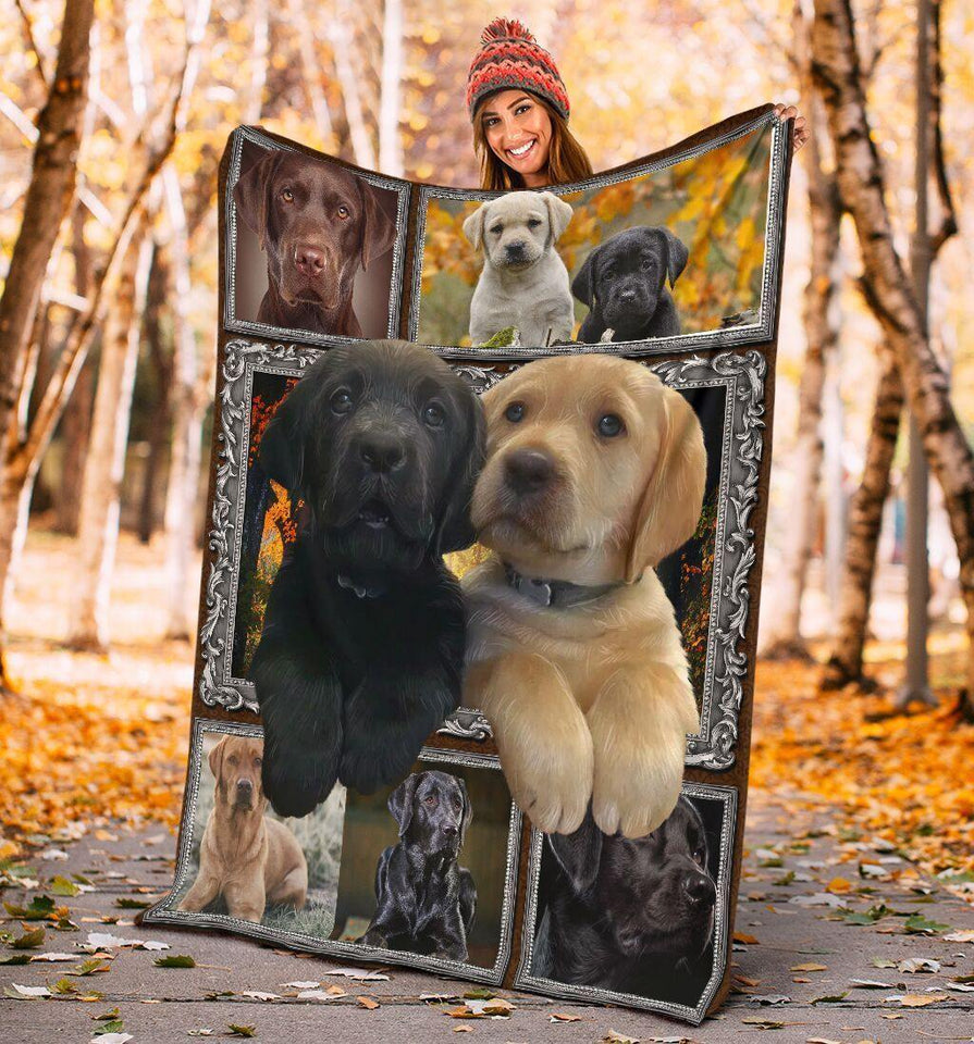 Dog Blanket 3D Cute Labrador Retriever Puppy Dog Lover Gift Fleece Blanket