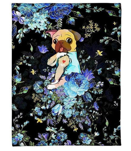 PUG GIFT Fleece Blanket - Gift for pug lovers - Family Presents - Great Blanket, Canvas, Clothe, Gifts For Family