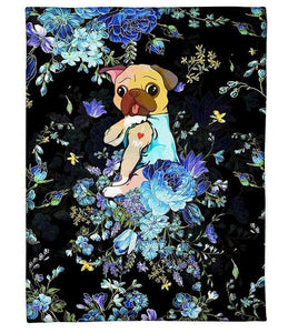 PUG GIFT Fleece Blanket - Gift for pug lovers