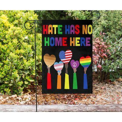 LGBT - Hate Has No Home Here Flag - House flag Garden Flag - Family Presents - Great Blanket, Canvas, Clothe, Gifts For Family