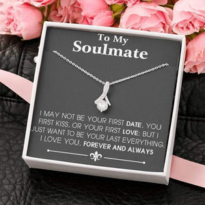 To My Soulmate Alluring Beauty Necklace Gift, Soulmate Last Everything, Valentine gift for her - Family Presents - Great Blanket, Canvas, Clothe, Gifts For Family