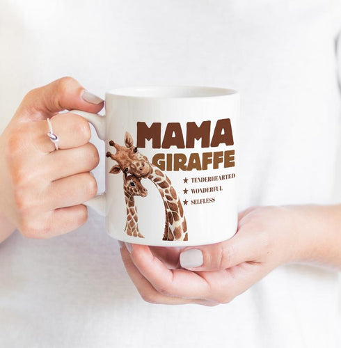Mothers Day Mug  Mama Mug / Cute Mother'S Day Gift / Mama Giraffe, Mum And Baby Animals / First Mother'S Day Gift For Mum