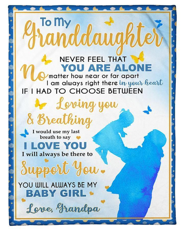 To My Granddaughter Blanket - In Your Heart To Support You - Blanket Gift For Granddaughter - Birthday Gift For Granddaughter