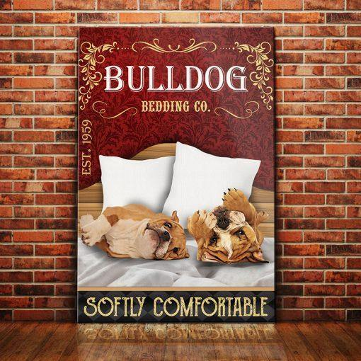 Bulldog Bedding Company Canvas - Softly comfortable - Anniversary Birthday Christmas Housewarming Gift Home - Family Presents - Great Blanket, Canvas, Clothe, Gifts For Family