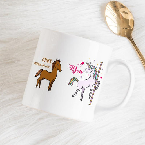 Mothers Day Mug  Mother-In-Law Mug / Funny Gift For Mother-In-Law / Horse And Unicorn / Mother'S Day Gift
