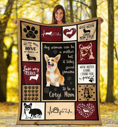 Corgi Can Be A Mother Blanket - Gift For Son/daughter - Christmas, Birthday Gift - Family Presents - Great Blanket, Canvas, Clothe, Gifts For Family