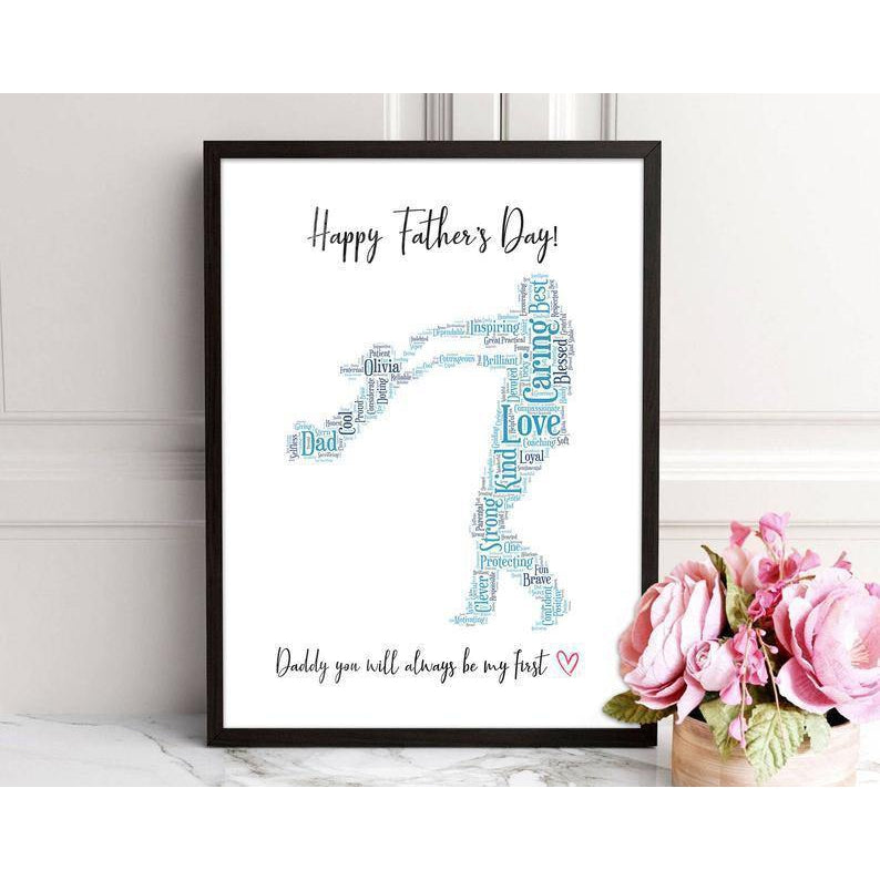 Dad Gifts from Daughter to Daddy Canvas Sign Framed Personalized Father's Day Gift Daddy Birthday Present Canvas - Family Presents - Great Blanket, Canvas, Clothe, Gifts For Family