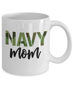 Mothers day White Mug - Gift for veteran mom form daughter and son - Navy mom mug