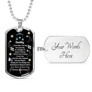 Personalized Daddy Pendant Necklace, New Dad Gift, Gift From Unborn Baby, New Dad Gift From Wife, Baby Bump Gift, Daddy, Are You Ready