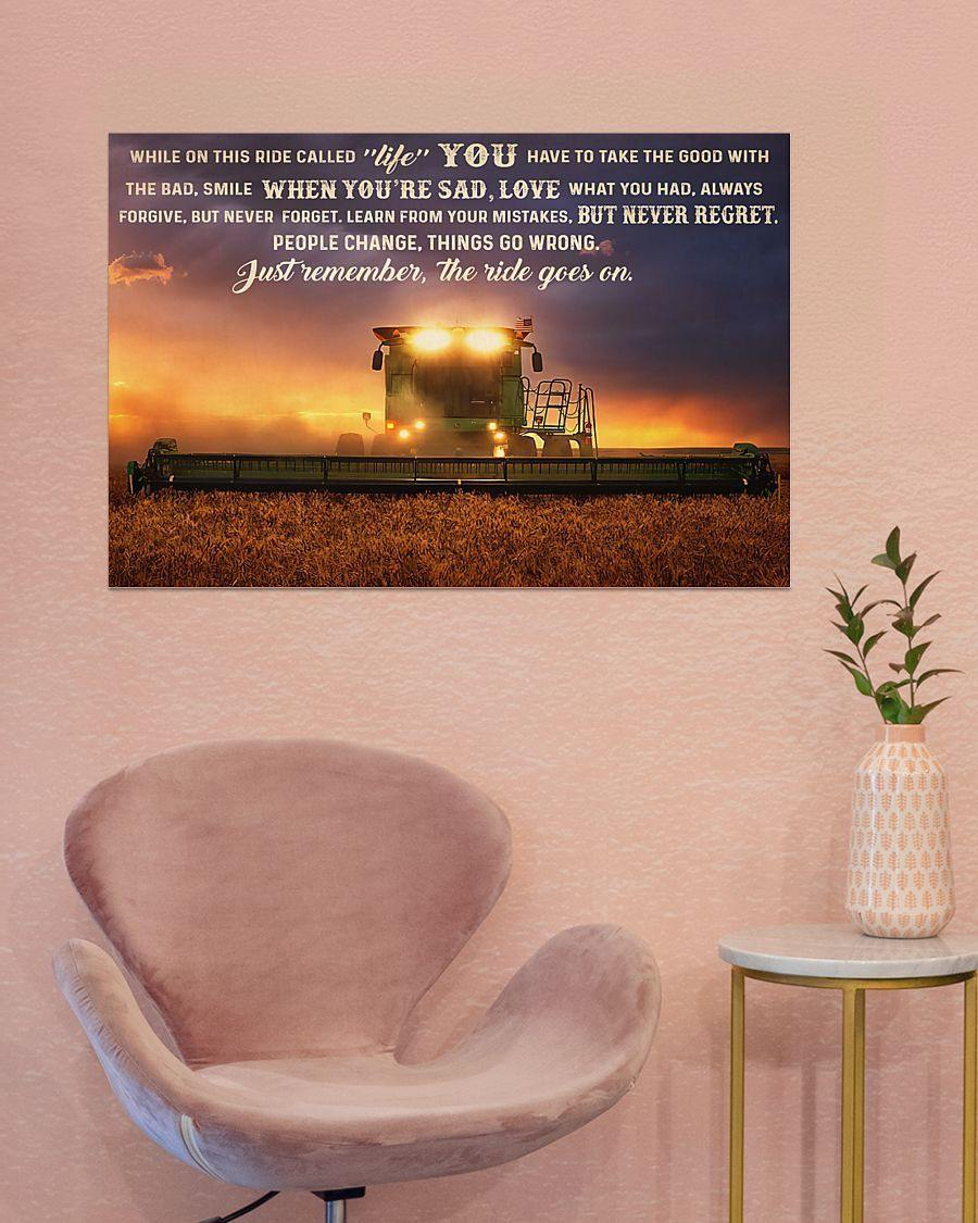 Tractor While On This Life Gallery Wrapped Canvas Prints  - Just remember the ride goes on
