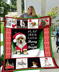 Corgi Fleece Blanket Christmas Gifts Gifts For Him Gifts For Her - Family Presents - Great Blanket, Canvas, Clothe, Gifts For Family