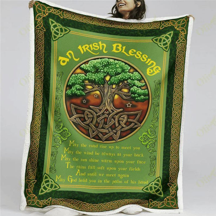 To Friend Blanket, Patrick Day Blanket, Irish, Ireland, An Irish Blessing