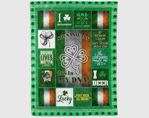 St Patricks Day Blanket, Shenanigans Blanket, St Patricks Day, Shamrock Blanket, Daughter Blanket From Mom, Son Blanket From Mom