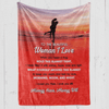 To the Woman I Love Blanket - Gift for Wife/ Girlfriend -I loved you then I love you still always have always will - Birthday, Christmas, Anniversary