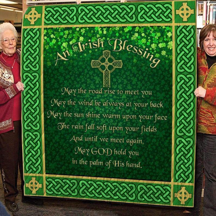 Duvet Cover, Gift For Friend, Gift For Lover, Irish Patrick Day, Ireland Patrick Day Blanket, An Irish Blessing, Celtic Cross
