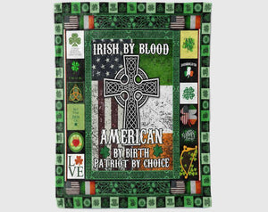St Patricks Day Blanket, Irish By Blood, Shenanigans Blanket, St Patricks Day, Shamrock Blanket, Daughter Blanket From Mom, Son Blanket