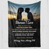 To the Woman I Love Blanket III - Gift for Wife/ Girlfriend - Birthday, Christmas, Anniversary