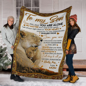 To my son blanket - Gift from mom - Birthday gift, christmas gift - Never feel that you are alone