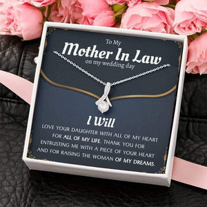 Mother's Day Gifts,   Mother In Law Gift on Wedding Day from Groom, Gifts for Mother of the Bride, Future Mother-In-Law - Alluring Beauty Necklace, Mother's Day Gift, Mom Gift Jewelry, Mom Birthday Gift - Family Presents - Great Blanket, Canvas, Clothe, Gifts For Family