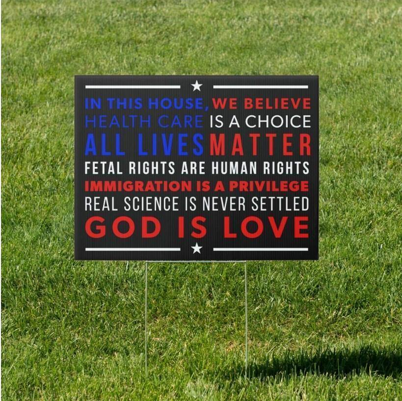"Conservative ""In This House"" Yard Sign"
