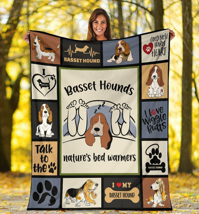 Basset Hounds Nature's Bed Warmers Fleece Blanket