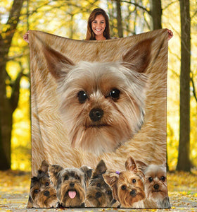 Dog Blanket 3D Yorkshire Terrier Yorkie Cute Dog Lovers Fleece Blanket