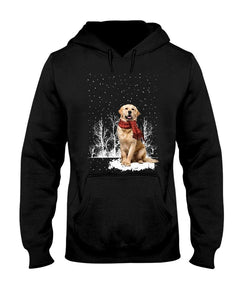 Snow Scarf - Golden Retriever 2 Hooded Sweatshirt