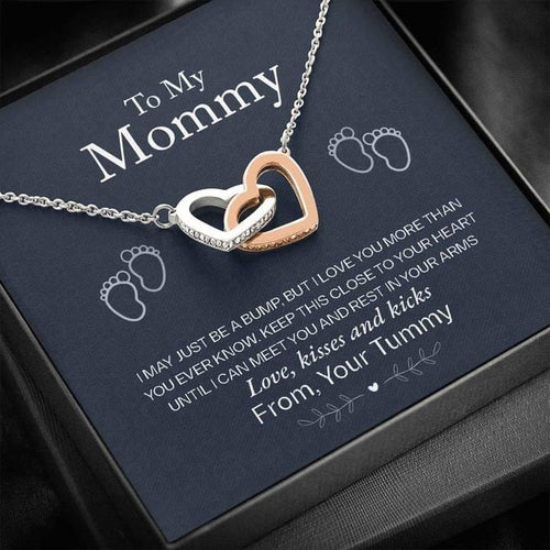 To My Mommy - Close To Your Heart - Interlocking Hearts Necklace