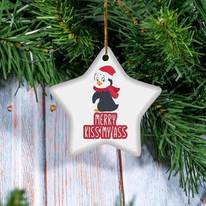 2020 Merry Kiss My Ass Family Christmas Gift - Star Ornament (2 sided)