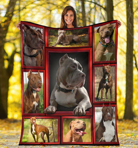 3D Pitbull Pitbulls Pit Bull Lover Gift Fleece Blanket