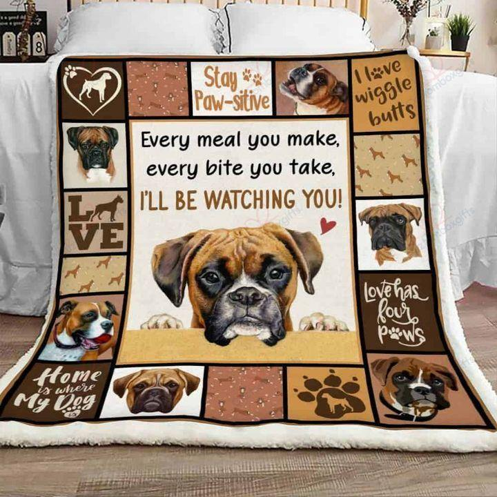 Boxer Dog Love Has Four Paw -  Sherpa Fleece Blanket