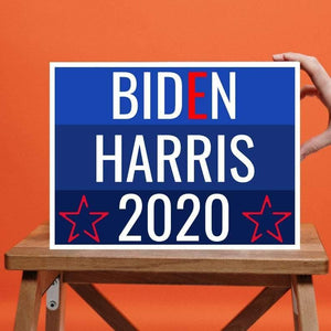 BIDEN HARRIS for PRESIDENT - Floor Decals - 12-Pack - Election 2020 - Vinyl Decals - Yard Sign