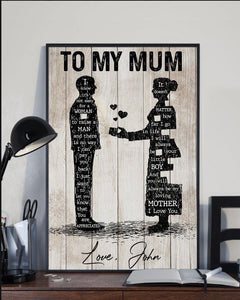 Personalized Mum You Are Appreciated From Son Poster - Family Presents - Great Blanket, Canvas, Clothe, Gifts For Family