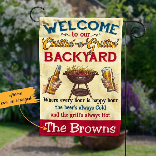 Personalized Backyard Gardening Garden Flag JL63 95O53 - Family Presents - Great Blanket, Canvas, Clothe, Gifts For Family