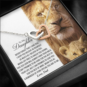 To My Daughter Necklace  - This Old Lion Will Always Have Your Back - Birthday Gift For Daughter From Dad