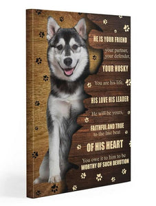 Husky Friend Gallery Wrapped Canvas Prints - Family Presents - Great Blanket, Canvas, Clothe, Gifts For Family