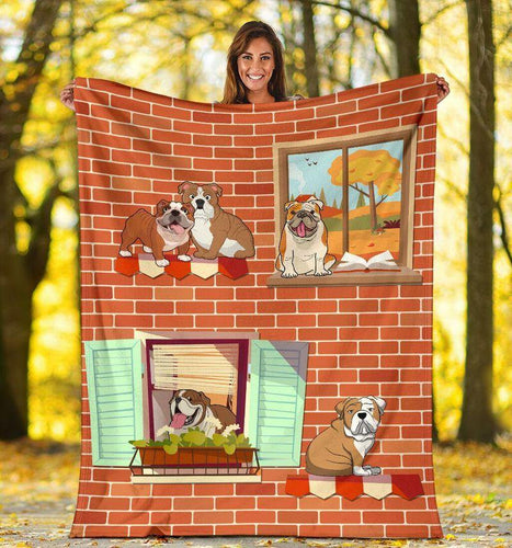 Bulldog House Blanket - Gift For Son/daughter - Christmas, Birthday Gift
