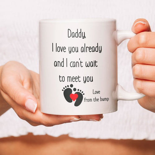 Daddy From The Bump Coffee Mug, Baby Expecting Dad, Daddy To Be Gift Idea, Dad To Be Present, New Daddy, Father's Day Gift, Baby For Dad