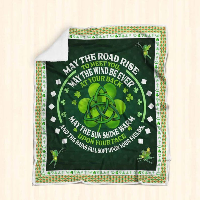 May God Fill Your Heart With Gladness To Cheer You Irish Celtic Cross Blanket