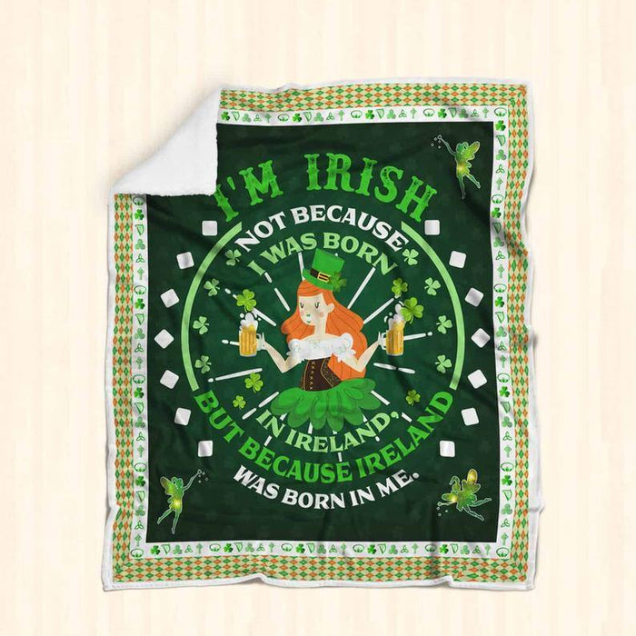 St Patricks Day An Irish Woman Is Like A Four Leaf Clover All Over Printed Blanket