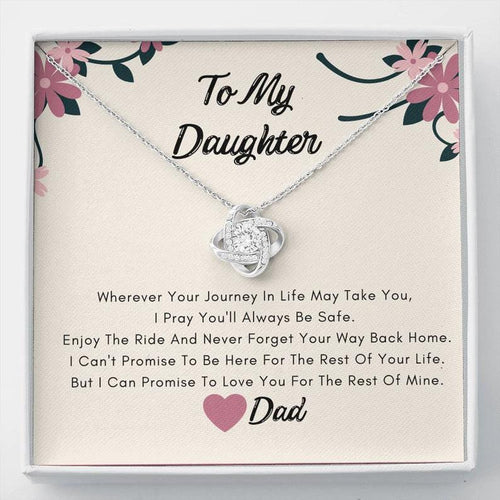 To My Daughter Necklace -  I Can Promise To Love You For The Rest Of Mine, Birthday Gift For Daughter From Dad